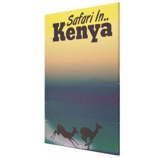 Impressão Em Canvas Safari no poster das férias de Kenya