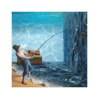 Impressão Em Canvas Sala da pesca