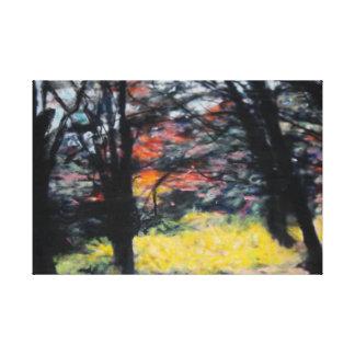 Impressão Em Canvas Samambaias claras traseiras
