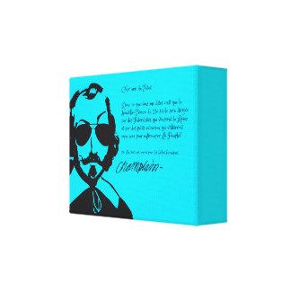Impressão Em Canvas Samuel Champlain Hipster texto do futuro+lunetas