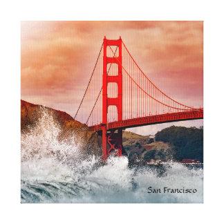 """Impressão Em Canvas San Francisco 12"""" X12"""", 1,5"""", solteiro"""