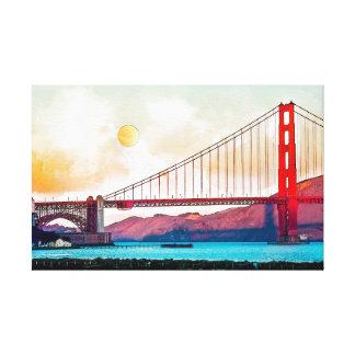 Impressão Em Canvas San Francisco golden gate bridge. EUA, América