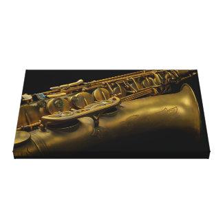 Impressão Em Canvas Saxofone super