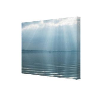 Impressão Em Canvas Seascape bonito minimalista com nuvens dramáticas