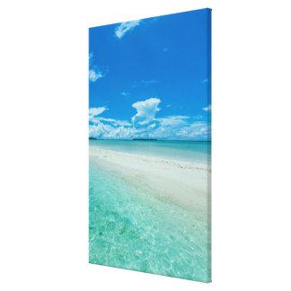 Impressão Em Canvas Seascape tropical azul, Palau