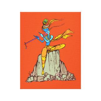 Impressão Em Canvas Senhor Krishna com flauta