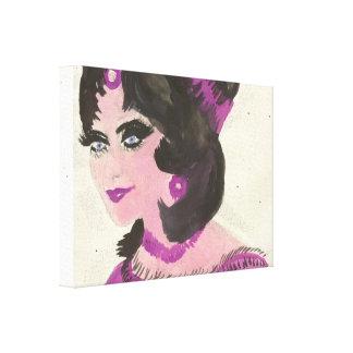 Impressão Em Canvas Senhora cor-de-rosa