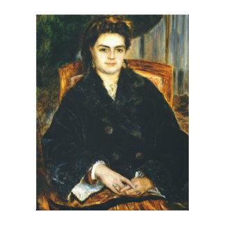 Impressão Em Canvas Senhora Édouard Bernier de Auguste Renoir