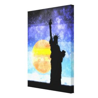 Impressão Em Canvas Senhora majestosa Liberdade
