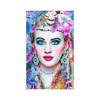 Impressão Em Canvas Sereia aciganada, arte da parede, arte de Fantacy,