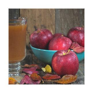 Impressão Em Canvas Sidra de maçã e maçãs do outono