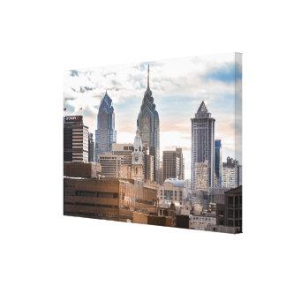 Impressão Em Canvas Skyline de Philadelphfia no dia