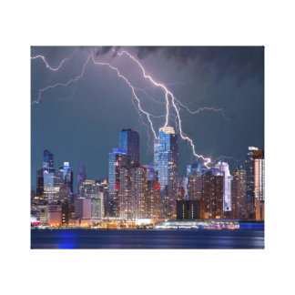 Impressão Em Canvas Skyline moderna da Nova Iorque dos curto circuitos