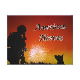 Impressão Em Canvas Soldado americano