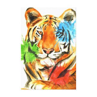 Impressão Em Canvas Splatter do tigre