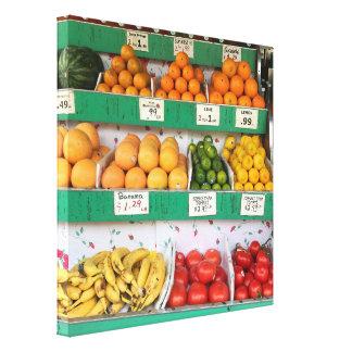 Impressão Em Canvas Suporte de fruta, avenida de Columbo, Nova Iorque,