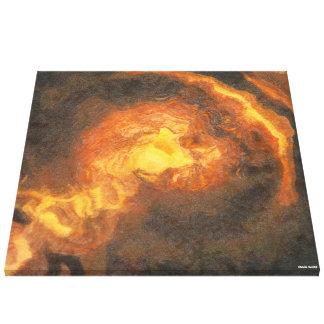 Impressão Em Canvas T-Rex dourado