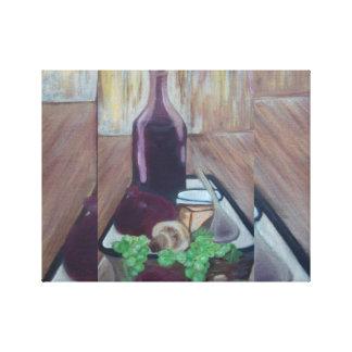 Impressão Em Canvas tempo ocioso da máquina do vinho