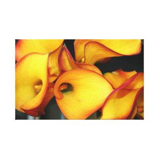 Impressão Em Canvas Teste padrão amarelo do abstrato da flor