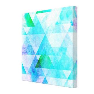 Impressão Em Canvas Teste padrão geométrico da aguarela azul