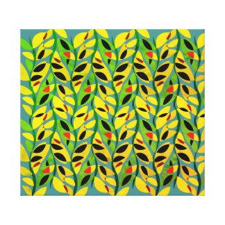 Impressão Em Canvas Teste padrão rústico da videira da folha