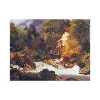 Impressão Em Canvas Tomada do moinho de Ferdinand Georg Waldmüller de