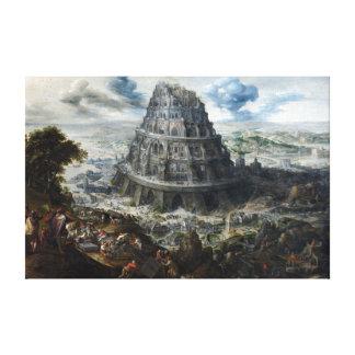 Impressão Em Canvas Torre de Marten camionete Valckenborch de Babel