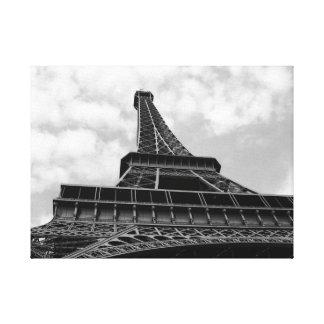 Impressão Em Canvas Torre Eiffel em preto e branco