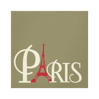 Impressão Em Canvas Torre Eiffel icónica em Paris vermelha France