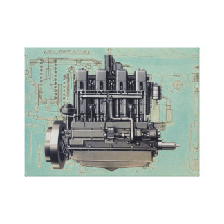 Impressão Em Canvas Trabalhos de arte adiantados do desenho mecânico