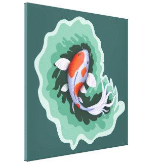Impressão Em Canvas Trabalhos de arte da carpa de Koi