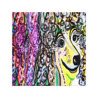 Impressão Em Canvas Transição da cor da caniche