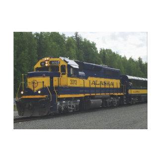Impressão Em Canvas Trem do Alasca