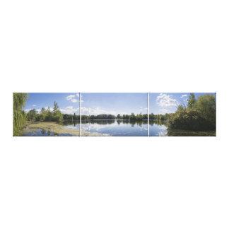 Impressão Em Canvas Triptych sul da opinião do reservatório de Jersey