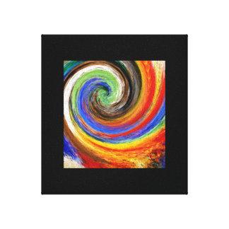 Impressão Em Canvas Twirl abstrato