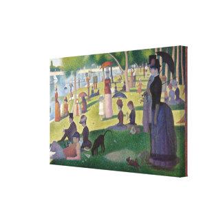 Impressão Em Canvas Um domingo à tarde na ilha do La Gran Seurat