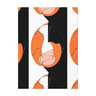 Impressão Em Canvas Um furo na parede - uma fatia de laranja