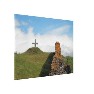 Impressão Em Canvas Uma cruz no campo