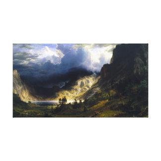 Impressão Em Canvas Uma tempestade nas montanhas rochosas