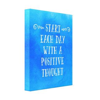 Impressão Em Canvas Umas citações positivas do pensamento
