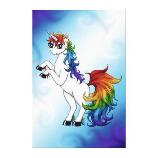Impressão Em Canvas Unicórnio do arco-íris