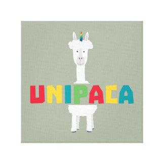 Impressão Em Canvas Unicórnio Z0ghq do arco-íris da alpaca