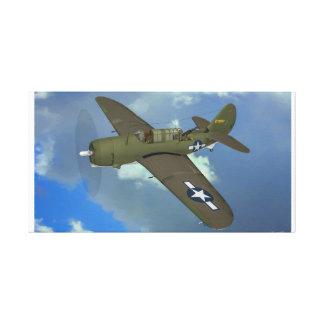 Impressão Em Canvas USAAF A-25 Shrike sobre Panamá