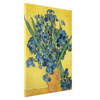 Impressão Em Canvas Vaso de Vincent van Gogh com íris GalleryHD floral