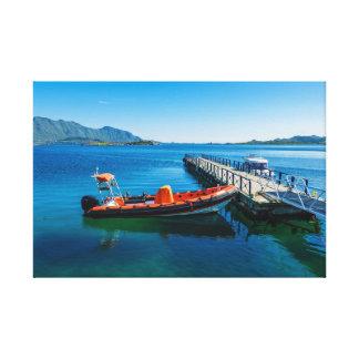 Impressão Em Canvas Veado da aterragem e barco da velocidade