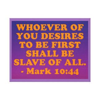 Impressão Em Canvas Verso da bíblia do 10:44 da marca.