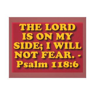 Impressão Em Canvas Verso da bíblia do salmo 118: 6.