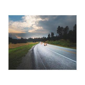 Impressão Em Canvas Vida para montar - motocicletas na estrada da