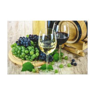 Impressão Em Canvas Vinho