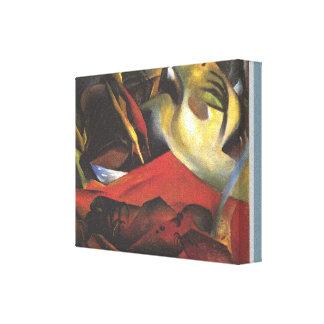 Impressão Em Canvas Vintage August Macke a tempestade